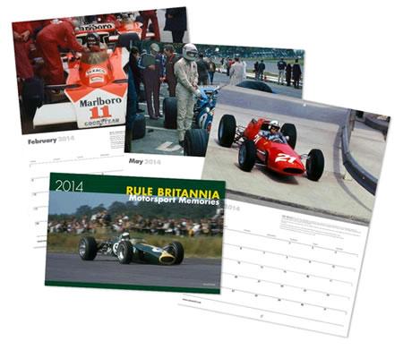 """2014 Classic Formula 1 Calendar """"Rule Britannia"""""""