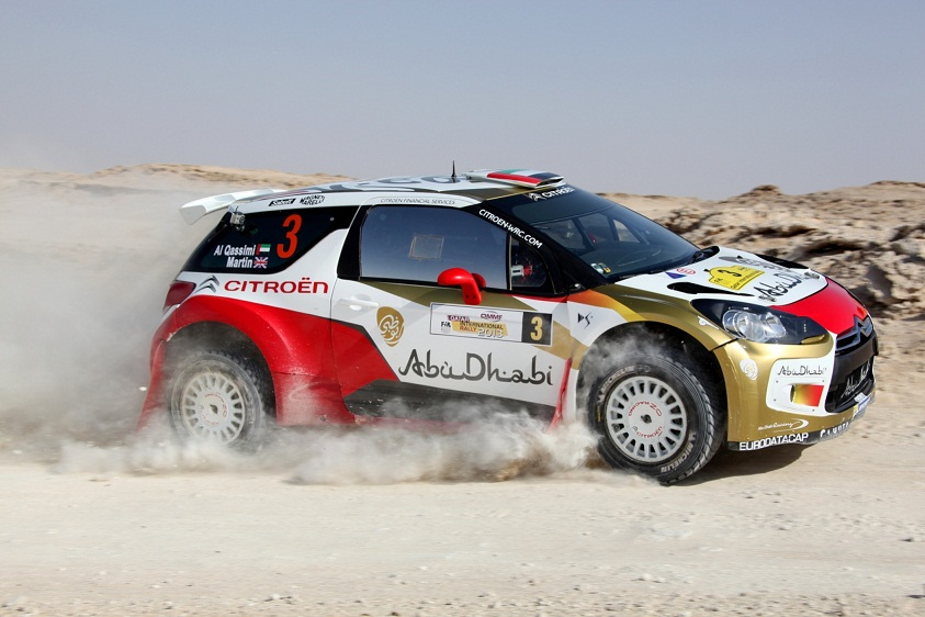 Al Qassimi: ready for action in Jordan in his Abu Dhabi Citroën DS RRC.