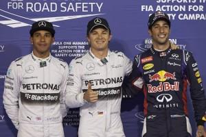 Bahrain 2014 quali podium