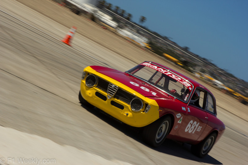 A 1968 Alfa Romeo GT Jr, driven by Anthony Rimicci, Jr.