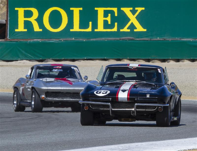 1963 CORVETTE Z06 AND 1964 CORVETTE AT THE PRACTICE-QUALIFICATION SESSIONS