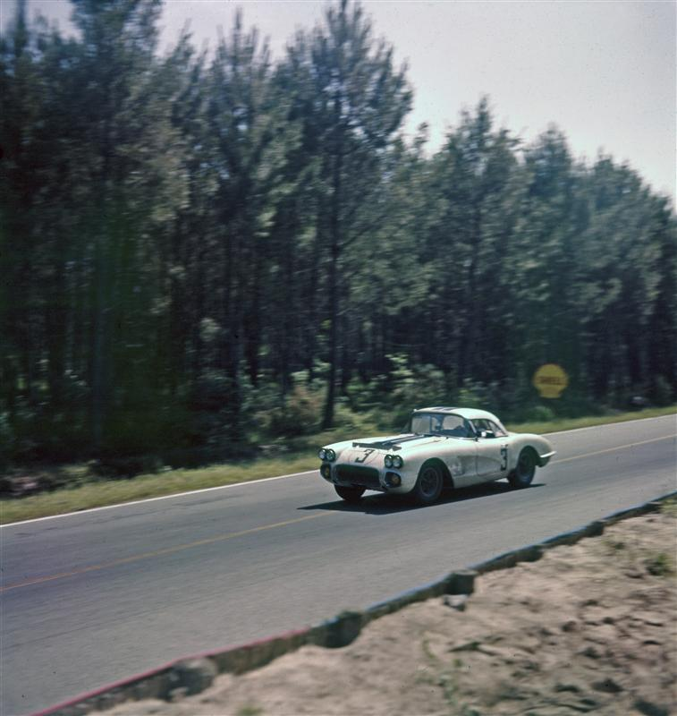 1960 Cunningham Corvette, class winner and eighth overall in the 1960 24 Hours of Le Mans, will be at the Rolex Monterey Motorsports Reunion, courtesy of Lance Miller. Photo credit: GM Heritage Center