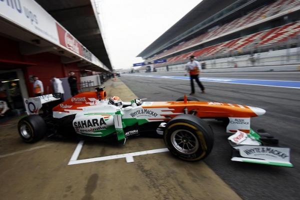 Force India Sutil test barca 2013