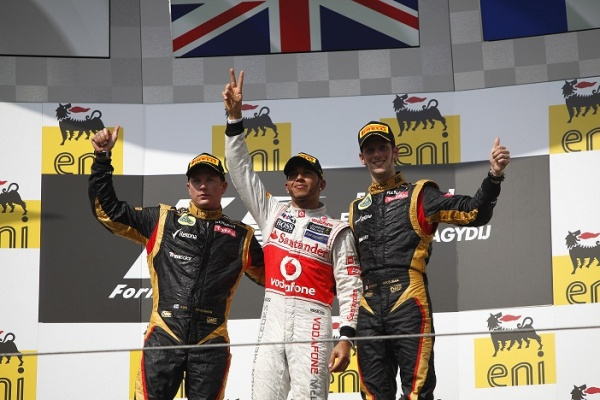 Hungarian GP Podium 2012