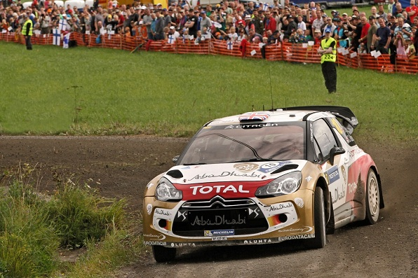 Kris Meeke drew praise from all round with an impressive drive in Rally Finland in the Abu Dhabi Citroën DS3.
