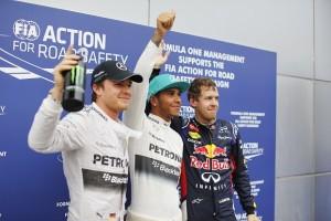 Malaysia GP Quali podium 2014