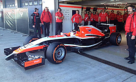 Marussia F1 unveil the MR03