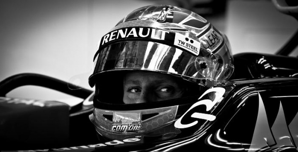 Romain Grosjean B&W