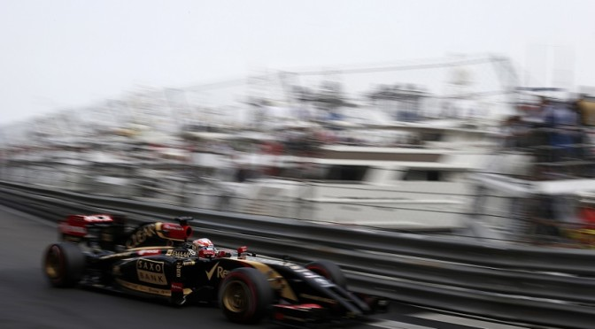 Romain Grosjean Monaco race 2014