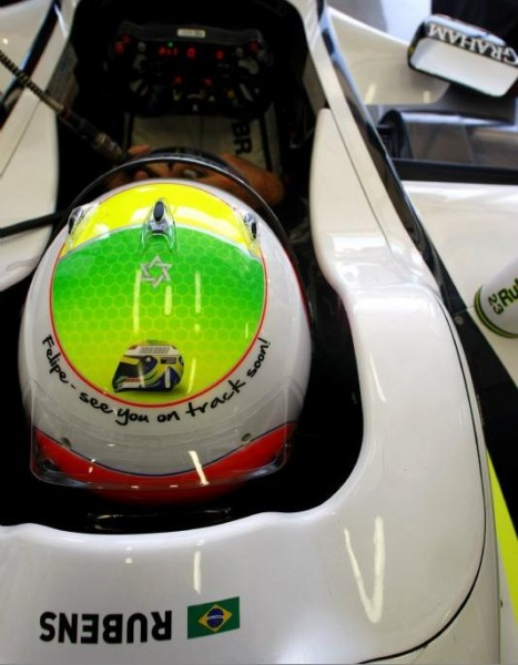 Rubens helmet for Felipe