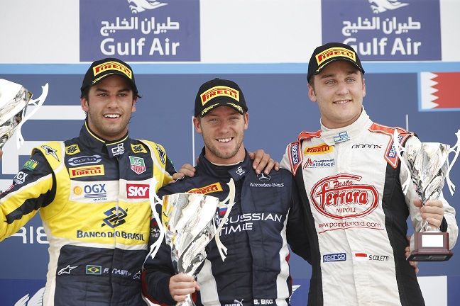 Sam Bird wins Bahrain sprint 2013