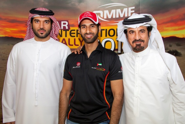 Sheikh Khalid Al Qassimi with FIA Vice President Dr. Mohammed Ben Sulayem and H.E.Faisal Al Ali