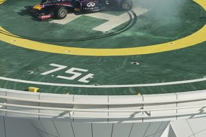 Celebration in Dubai after clinching fourth consecutive Drivers' and Constructors' World Championships