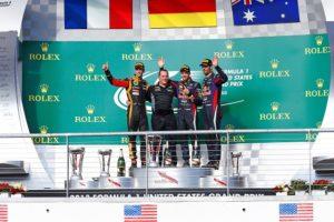 Renault podium at Austin