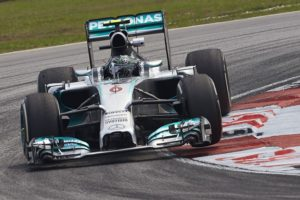 Mercedes AMG Friday practice Malaysia 2014