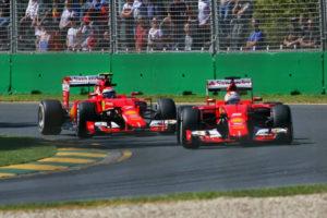 OZ GP 2015 Vettel Kimi