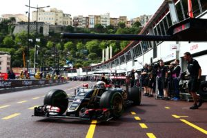 Romain Grosjean (FRA) Lotus F1 E23. Monaco Grand Prix, Thursday 21st May 2015. Monte Carlo, Monaco.