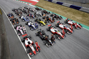 Grid photo with all drivers and cars, FIA Formula 3 European Championship Test Spielberg (AUT) - 26. - 27. March 2018