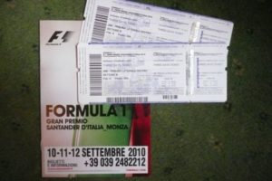 Monza race tickets 2010