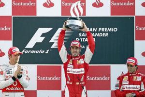 Fernando podium monza 2010