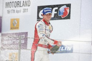 Rossi on the podium Aragon 2011 WSR