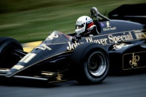 Elio de Angelis Qualifying the Lotus-Renault in the European GP