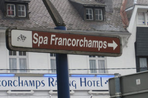 Spa Francorchamps sign