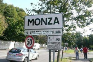 Monza city sign